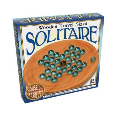 Wooden Travel Sized Solitaire By House Of Marbles - Age 6 Plus